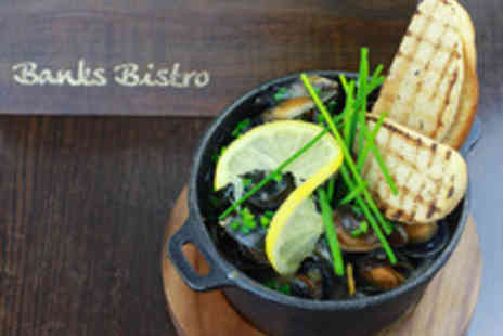 Banks Bistro - Two Course British Dining for Two with Wine - Save 42%