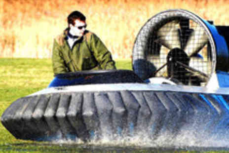 Hovercraft Adventures - Five or Ten Hovercraft Laps on a Purpose Built Course - Save 63%