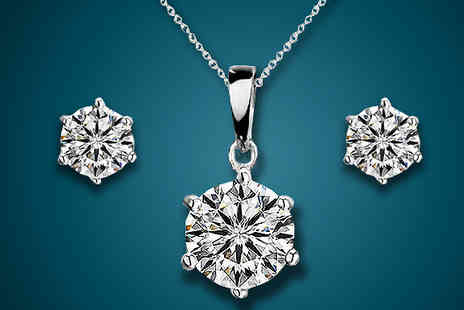 Finishing touch - Crystal Solitaire Set - Save 87%
