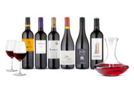 Naked Wines - Naked Wines Six Bottle Red Selection with Decanter and Wine Glasses  - Save 56%