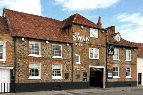 The Swan Hotel - One or Two Night Stay for Two People with Full English Breakfast Daily and Drink on Arrival - Save 45%
