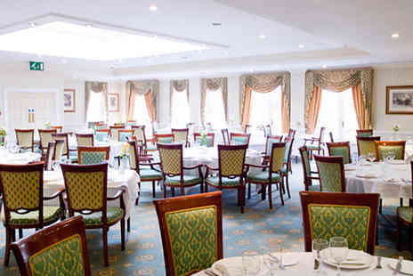 The Manor Hotel - Double AA Rosette Two Course Meal with Wine for Two - Save 31%