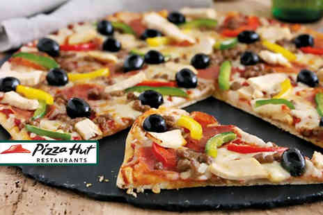 Pizza Hut - Two large pizzas to collect  - Save 75%