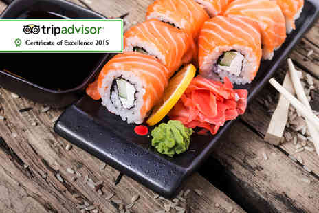 Koi Sushi & Noodle Bar - Sushi for 2 people including 30 pieces of sushi to share and unlimited green tea each  - Save 69%