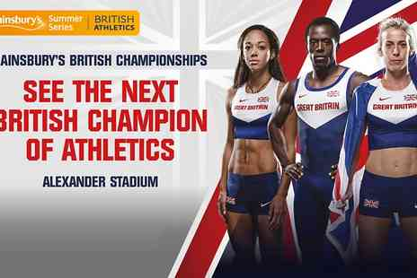 UK Athletics - Ticket to Sainsburys British Championships or Concession  - Save 20%