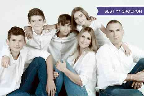 Revolve Studios - Family Photoshoot With Kids Haircuts and Framed Canvas - Save 96%