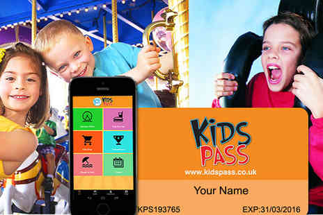 Kids Pass - 12 Month Money Saving Kids Pass to Attractions Nationwide - Save 68%