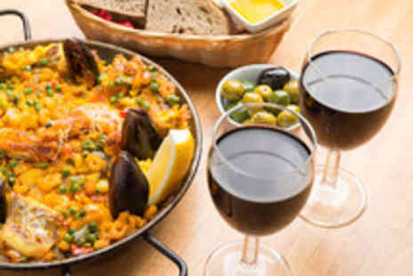 Jamon Jamon - Paella or Four Tapas Dishes to Share with Sides and Cava for Two - Save 45%