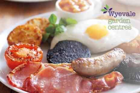 Wyevale Garden Centres - Great British Breakfast and Hot Drink for Two  - Save 42%