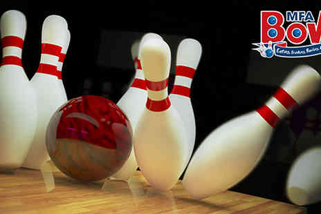 MFA Bowl Blackpool - Two games of bowling with chips or drink for two - Save 65%