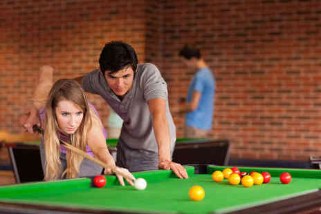 The Ball Room Sports Bar - Two Hours of Pool for Two with Cheese and Tomato Pizza to Share - Save 53%