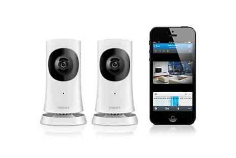 Yellowstone Partners - Two Philips In Sight M120D/10 Wireless HD Home Monitor Cameras With Wi-Fi With Free Delivery  - Save 38%
