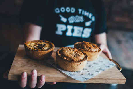 Pieminister - Award Winning Pie and Side with a Cocktail or Pint of Draught Beer or Cider Each for Two  - Save 52%
