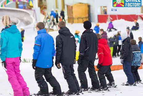 Chill Factore - One Beginners Snowboarding or Skiing Lesson - Save 59%