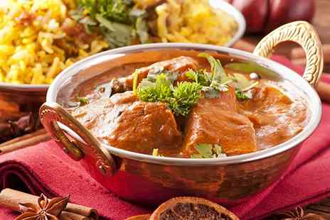 The Voujon - Two Course Indian Meal With Wine For Two - Save 66%