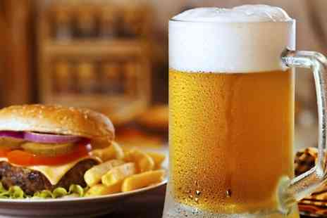 Birkers Bar and Grill - Burger With Beer or Glass of Wine For Two - Save 0%
