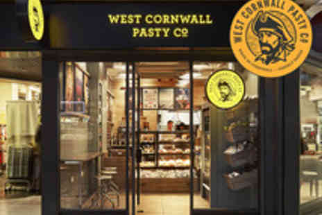 West Cornwall Pasty Co  - Medium or Large Cornish Pasty, Wedges and a Soft Drink - Save 48%