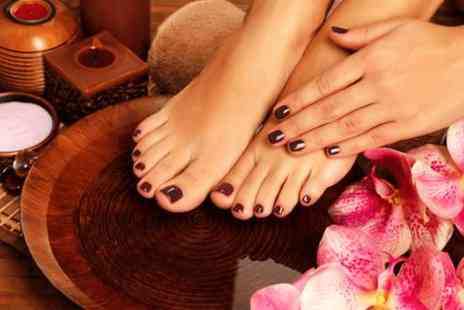 GLO Beauty -  Shellac fingers & toes with a mini manicure & mini pedicure - Save 64%
