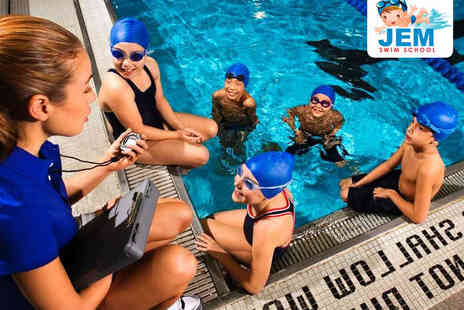 JEM Swim School - Seven Weeks of Kids or Adult Swimming Lessons or Aqua Natal Yoga OR One Week Swimming Crash Course for Kids; or Snorkelling Crash Course for Adults and Children - Save 54%