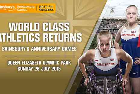 UK Athletics - One Adult Ticket to Sainsburys Anniversary Games IPC Grand Prix - Save 50%