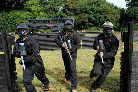 Bedlam Paintball -  Paintballing day for up to 5 people  - Save 95%