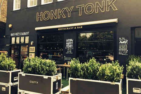 Honky Tonk  - Two course American meal for two including a cocktail each   - Save 54%