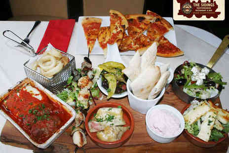 The Sidings - Greek Meze Platter for Two with Garlic Bread  - Save 50%