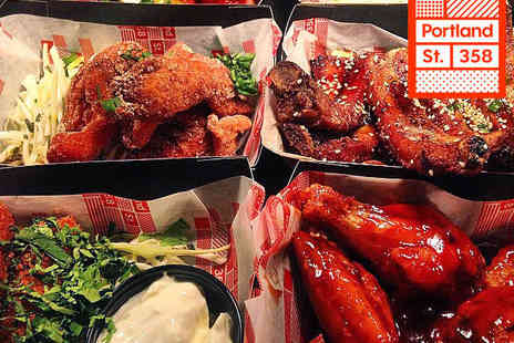 Portland St 358 - Selection of Street Food Dishes with Glass of Wine or Beer Each for Two   - Save 55%