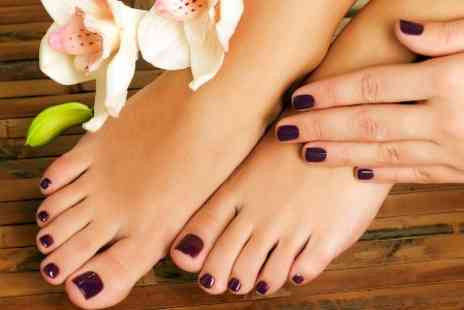 Pure Hair and Beauty - Manicure and Pedicure, Plus Facial   - Save 57%