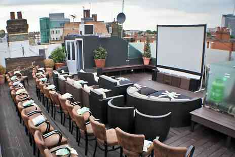 Press Play - Ticket  TO Groupon Exclusive for Press Play Rooftop Cinema and Popcorn - Save 0%