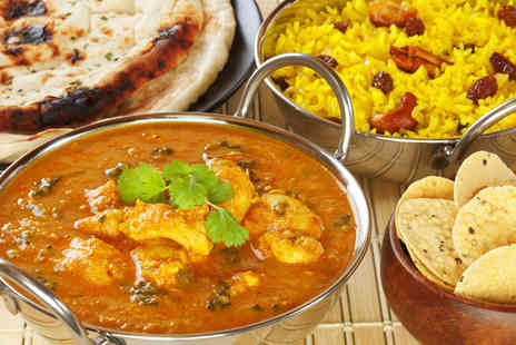 Le Spice Merchant - Three Course Indian Meal with Sides and Wine for Two  - Save 50%