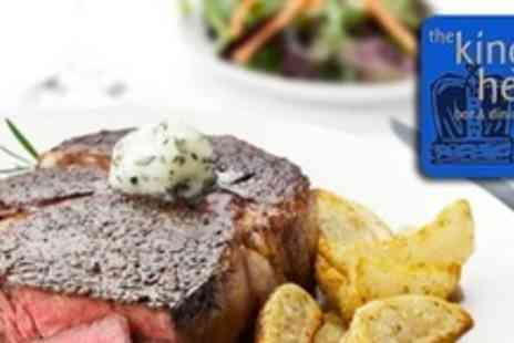 Kings Head - Two Course Gastro Pub Meal For Two With Bottle of Wine - Save 58%