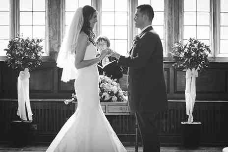 Black and White Photo - Wedding photography package including a USB of all images and two prints   - Save 60%