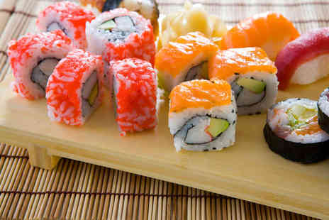 Sakushi - Eight Colour Coded Plates of Sushi Between Two with 10% Off any Bottles of Wine - Save 56%