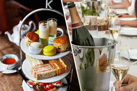 Kettners -  Champagne afternoon tea for Two - Save 51%