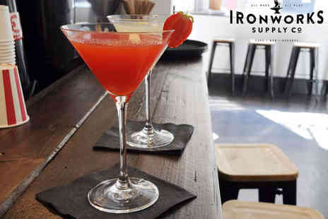 Ironworks Supply Co - Cocktail or Beer Each with Nachos to Share for Two - Save 50%
