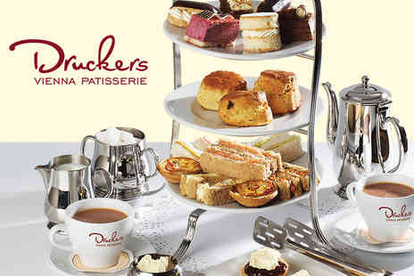 Druckers Vienna Patisserie - Afternoon Tea for Two  - Save 24%