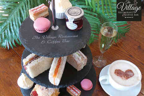 Blakemere Village - Afternoon Tea with a Miniature Bottle of Prosecco Each for Two  - Save 55%