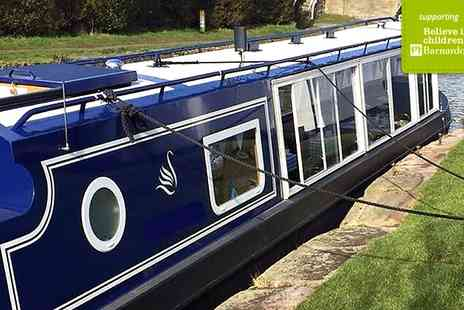 Blue Swan Boat Hire - Family Canal Cruise with Afternoon Tea  - Save 65%