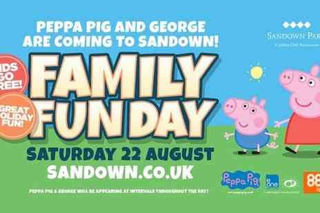 Sandown Park Racecourse - Entry to Peppa Pig Family Fun Day Grandstand  For Adult and Up to Two Children  - Save 38%