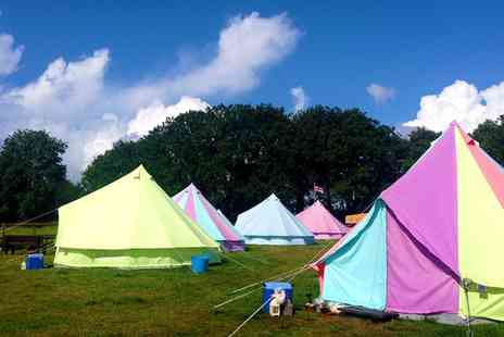 Botany Camping - Two nights in a bell tent at Botany Camping including BBQ kits & a bouquet - Save 50%