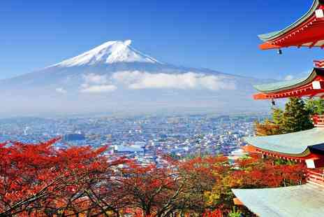 Japan Trip   - Eleven Night stay with tour of Japan including hotels breakfast  rail pass and flights - Save 0%