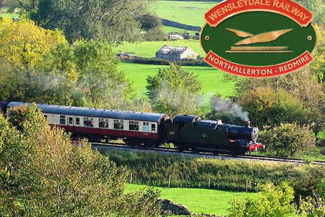 The Wensleydale Railway - Heritage Railway Experience with Afternoon Tea for Two - Save 50%