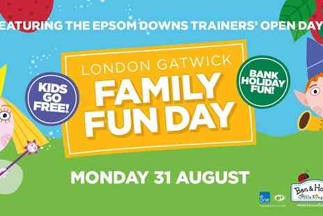 Epsom Downs Racecourse - Family Fun Day at Epsom Downs Racecourse  - Save 44%