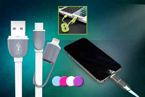 eGlobal Shoppers - 2 in 1 USB dual charging cable for iPhone 5/6 and other smartphones - Save 85%