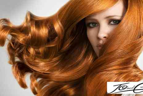 Jo and Cass  - Cut colour and conditioning treatment  - Save 55%