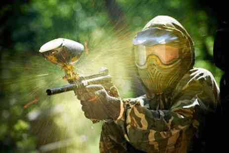Skirmish Paintball Games - Paintballing for 5 with 100 balls each - Save 92%