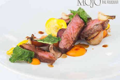 Mojo The FoodBar - Two Course Meal with Cocktail and Canapes for Two - Save 0%