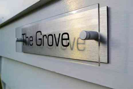 Acrylic Signs  - Personalised acrylic and aluminium house sign - Save 60%