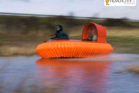 Hovercraft Adventures - Five Lap Hovercraft Experience for One or Ten Lap Experience for One  - Save 63%
